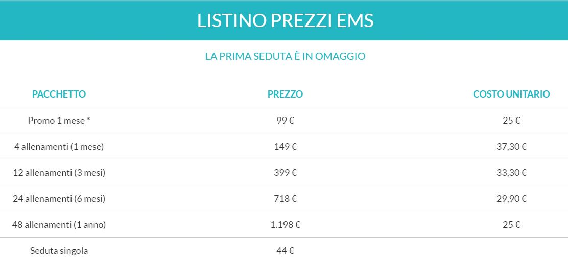 Prezzi Ems Fit And Go Lucca