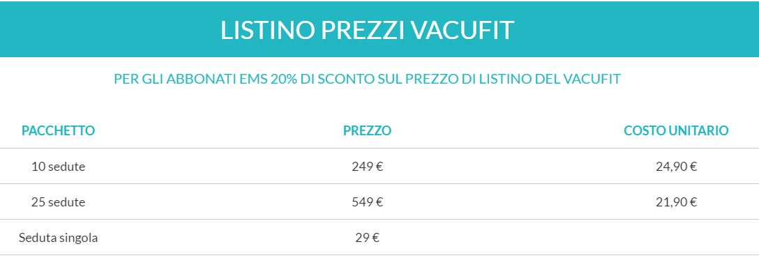 Prezzi Vacufit Fit And Go Lucca