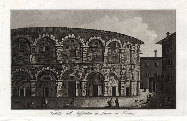 anfiteatro lucca foto antica