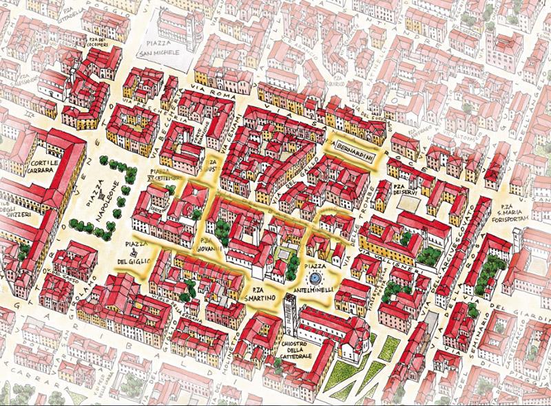 Carta Mercatino Antiquariato Lucca
