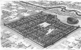 mappa antica Lucca