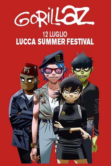 Летний фестиваль Gorillaz Lucca