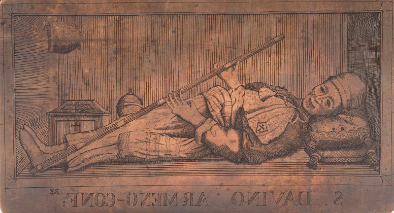 Matrice calcografica con il corpo di San Davino